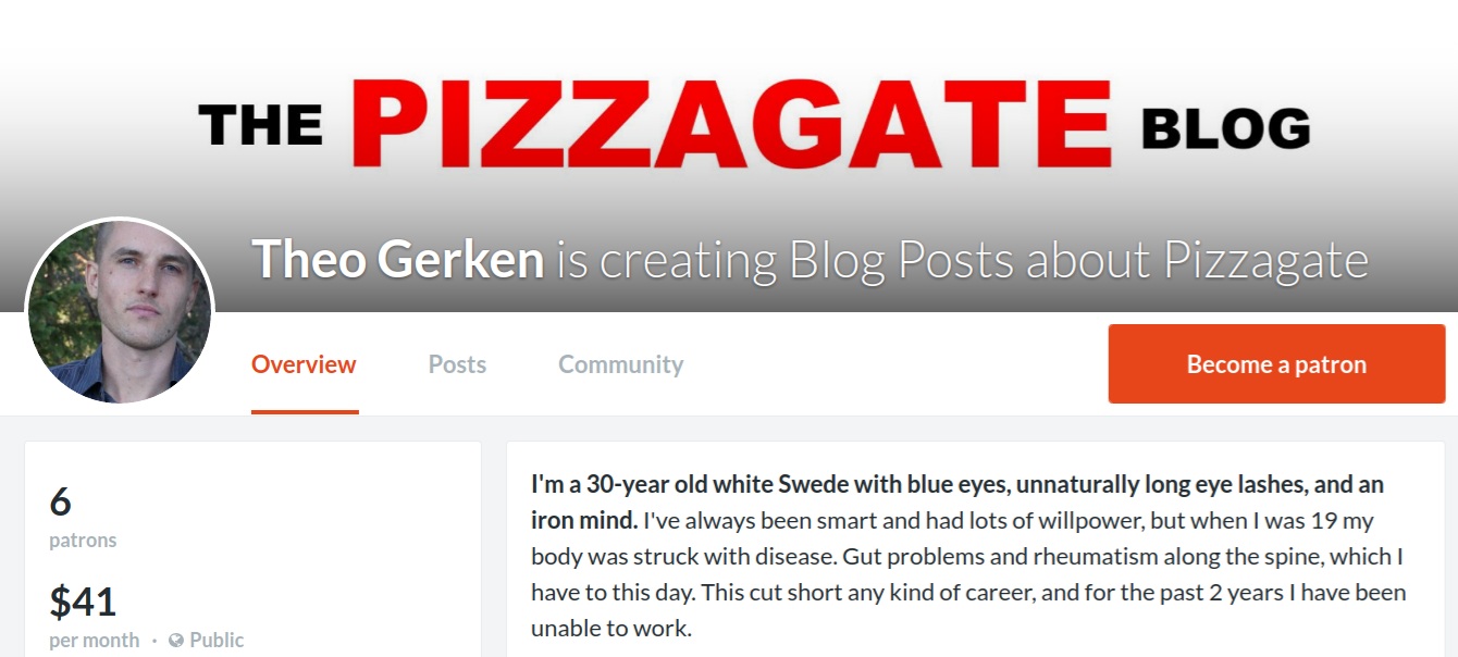 support the pizzagate blog on Patreon