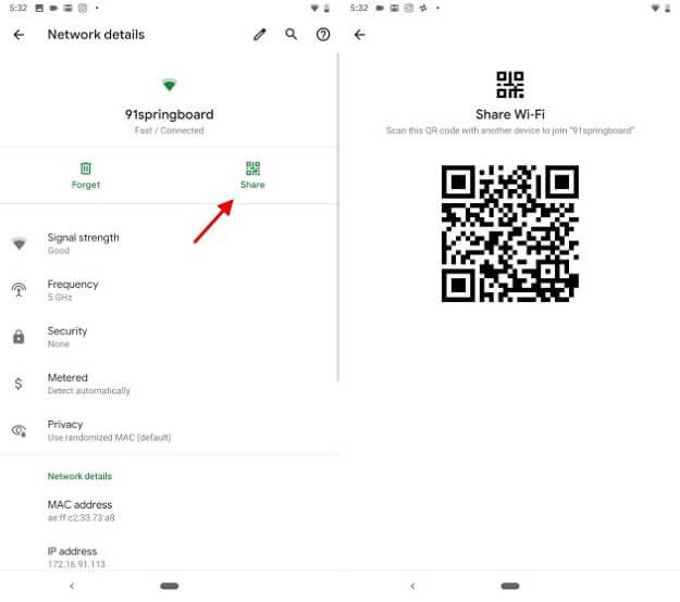 نظام Android Q يسهل مشاركة إتصال Wi-Fi عبر رموز QR