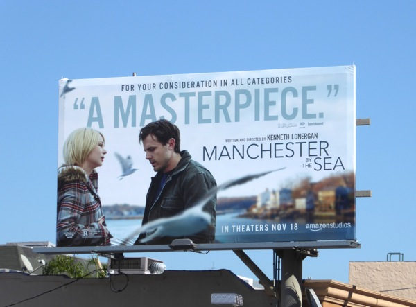 Manchester by the Sea movie FYC billboard