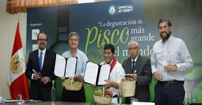 Buscan Récord Guinness con «la degustación de Pisco más grande del mundo» el domingo 28 de abril en Ica