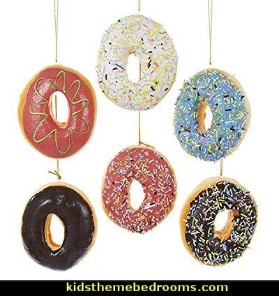 Donut Plastic Ornaments
