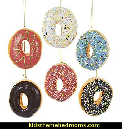 Donut Plastic Ornaments christmas ornaments christmas decorations