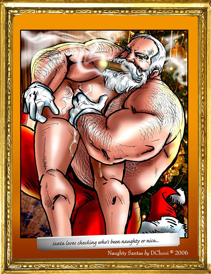 from Hugh gay muscle santa