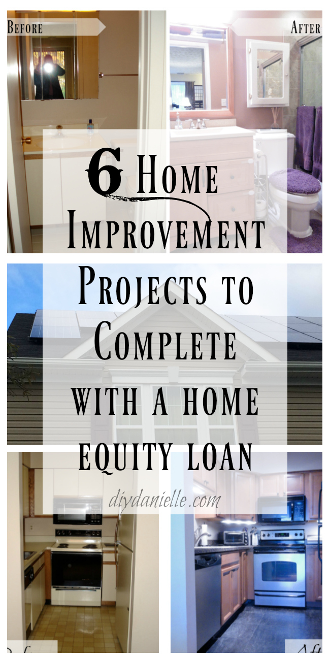 Different projects that might be worth taking out a loan to complete.