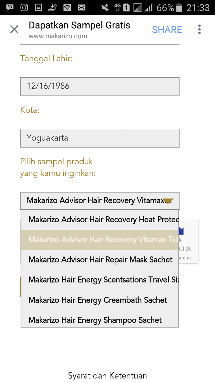 Cara Dapat Sampel Gratis Makarizo Ayoo Druwo Hair Recovery Untuk Yang Mau Mengikuti Giveaway Klik Disini