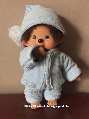 pyjama vêtement poupée monchhichi kiki couture handmade fait main