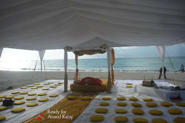 Sikh Wedding on Beach Riviera Maya Outdoor Tent Wedding