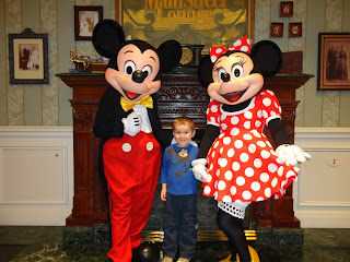 Big Boy meeting Mickey and Minnie