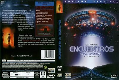 Carátula dvd: Encuentros en la tercera fase (1977)(Encuentros cercanos del tercer tipo) Close Encounters of the Third Kindaka