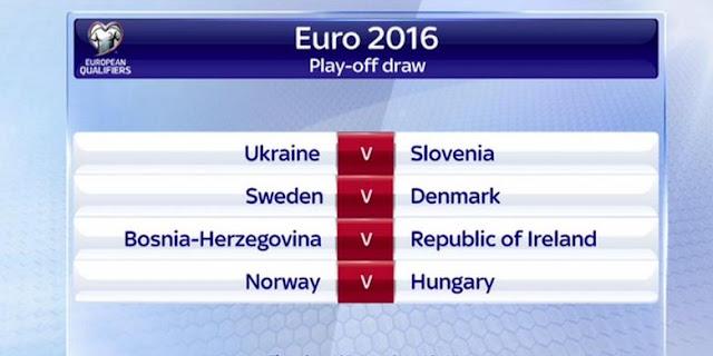 "Foto Hasil Undian ""Play-off"" Kualifikasi Piala Eropa 2016"