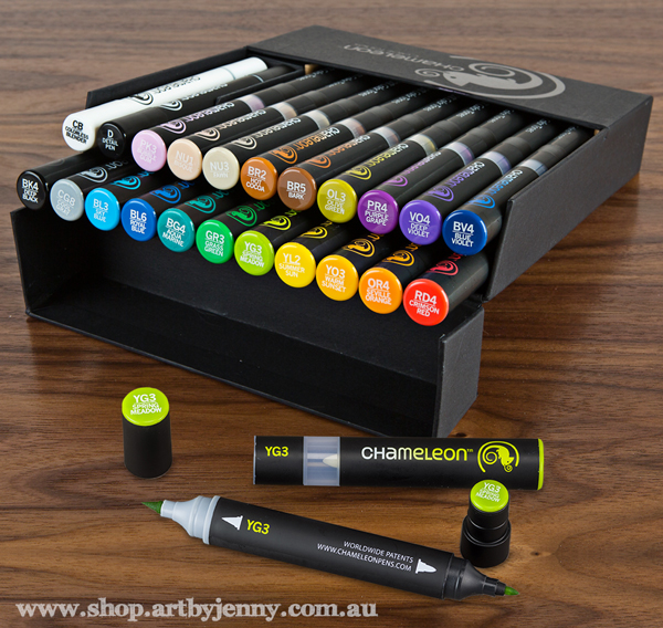 Chameleon Pens, solvent based markers, for sale at Art by Jenny online shop