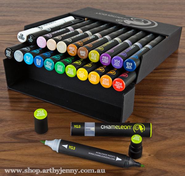 Chameleon Pens, solvent based markers, for sale at Art by Jenny online shop