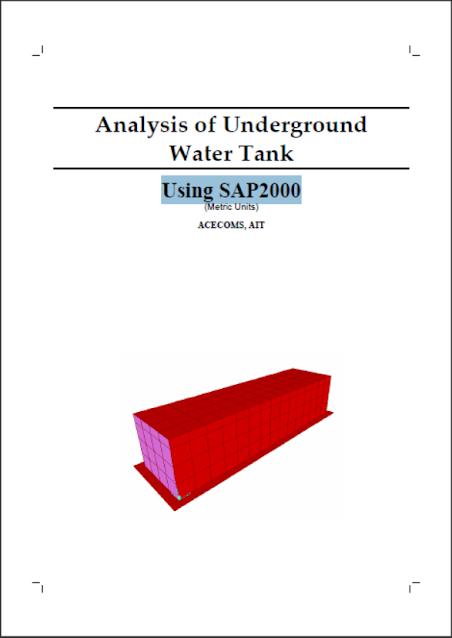 Analysis of Underground Water Tank Using SAP2000