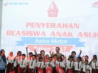 Honda Jateng Berikan Beasiswa Kepada 70 Anak Asuh
