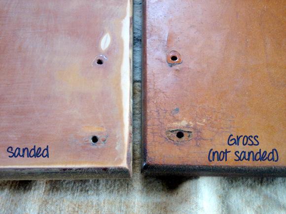 Sanding Cabinet doors: Recycled Cabinet Doors | DIY Playbook