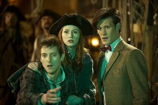 Dr Who, the Curse of the Black Spot, Amy Pond, Rory and the Doctor