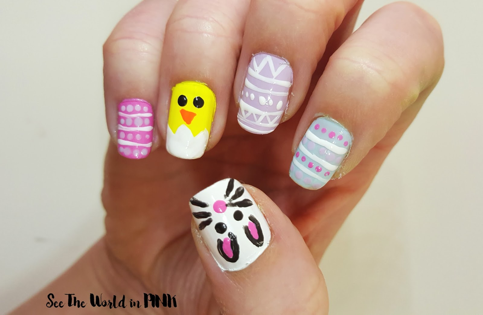 Easter Nails!! Bunny, Chick and Easter Egg Nails Tutorials