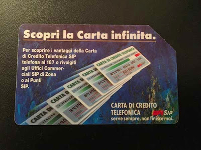 Scheda telefonica Sip ''scopri la carta infinita''