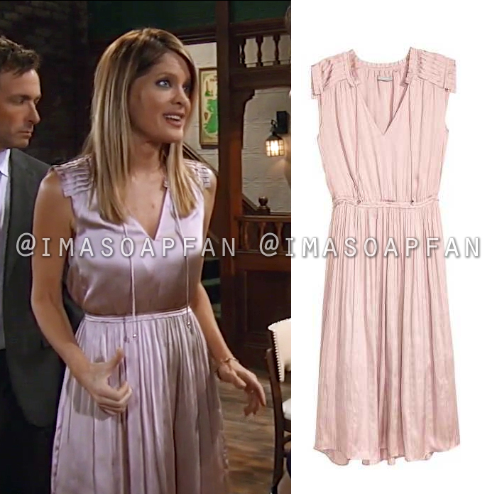 Nina Reeves, Michelle Stafford, Pink Satin Dress, General Hospital, GH