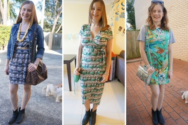 Ankle Boots & Dresses in Warmer Weather | Away From The Blue