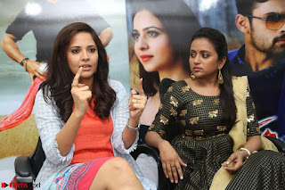 Actress Suma in Black Salwar Suit and Anusuya in orange Dress at winner movie press meet part 2 February 2017 (48).JPG