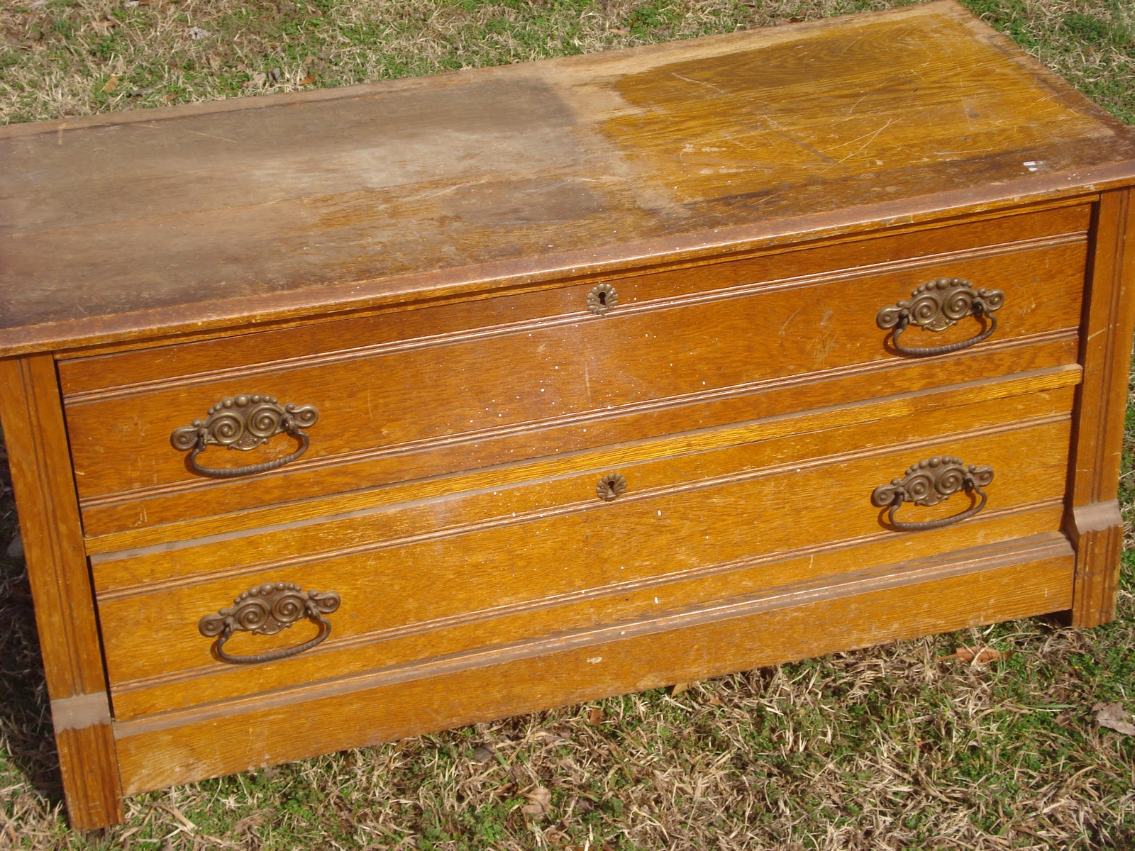 Simply Salvaged Antique 2 Drawer Chest
