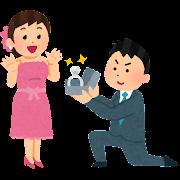 プロポーズのイラスト