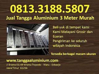 Jual tangga aluminium 3 mtr murah