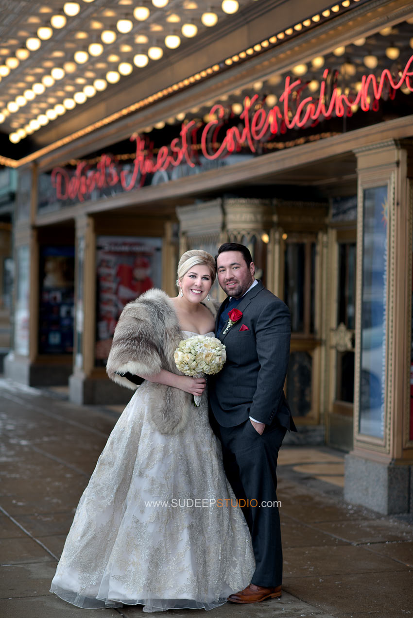 Detroit Fox Theatre Wedding Photography - Sudeep Studio