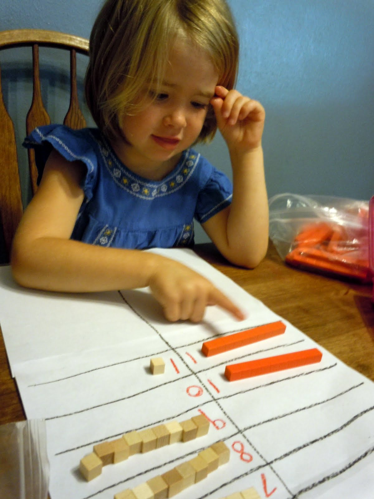 Adventures At The Kitchen Table Introducing Place Value