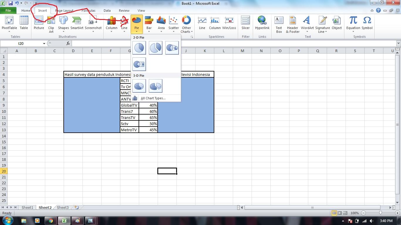 Tugas 2 cara membuat diagram lingkaran di ms excel my assignments 4 lalu setelah itu klik design diagram lingkaran yang kalian inginkan jika ingin ditampilkan layouts presentnya dari hasil hasil survey harus di block ccuart Images