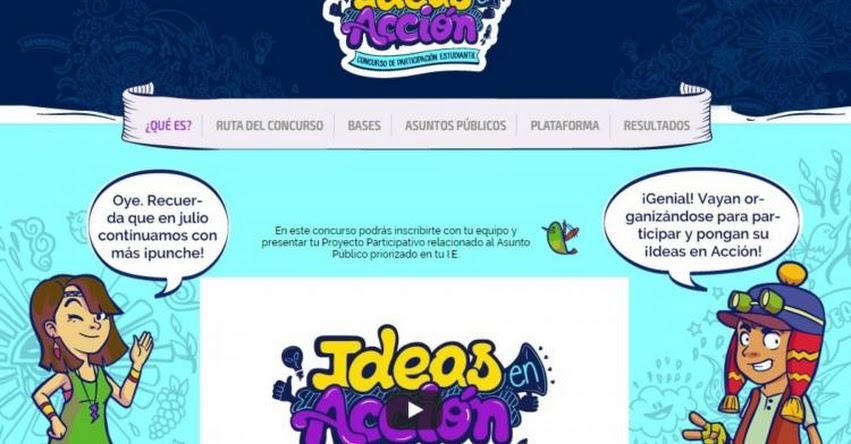 MINEDU convoca a tercera edición de concurso Ideas en Acción 2018 - www.minedu.gob.pe