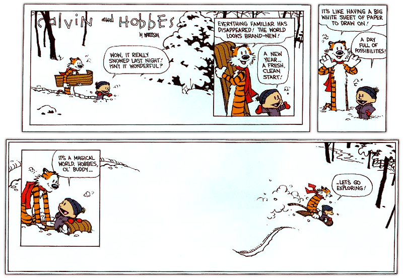 On Gratitude: DAY 33: CALVIN & HOBBES - Exploring and