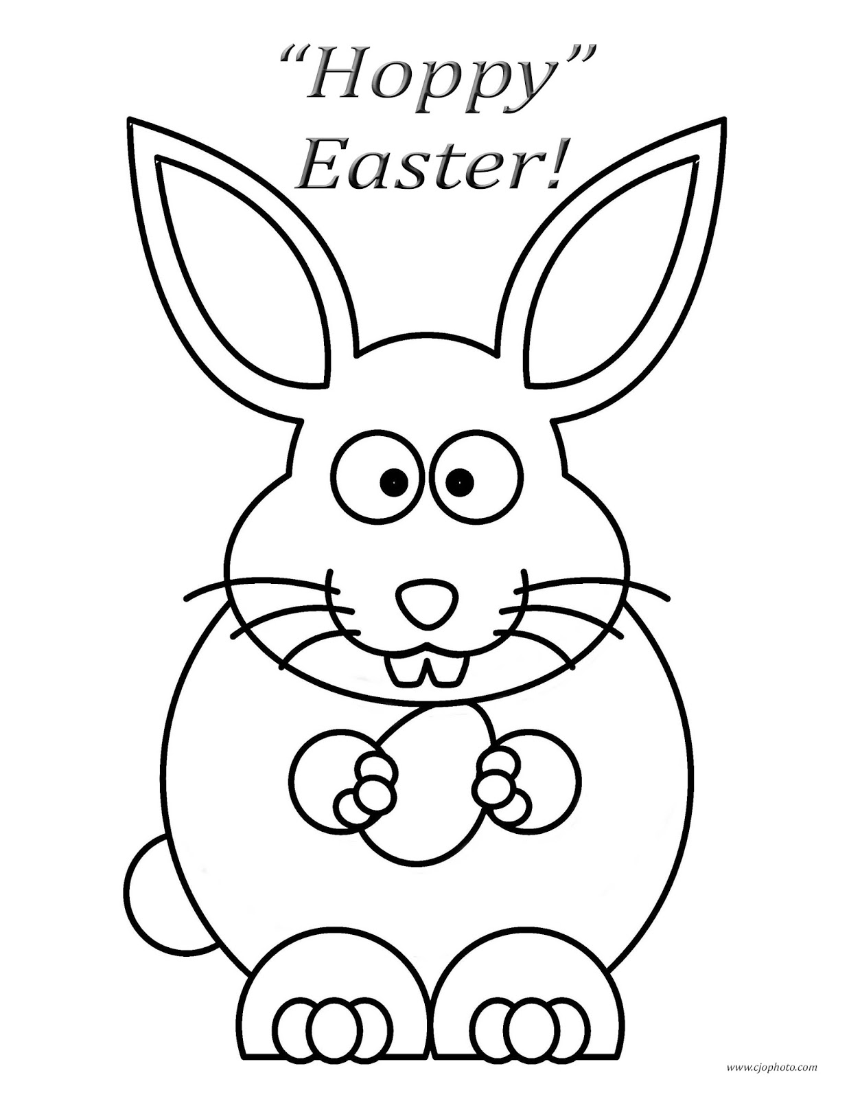 - CJO Photo: Easter Coloring Page: Hoppy Easter Bunny