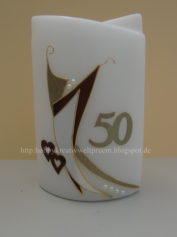 Hobby Kreativ Welt Kerze Zur Goldenen Hochzeit