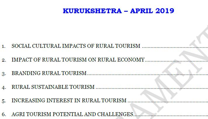 GIST of Kurukshetra April 2019 PDF