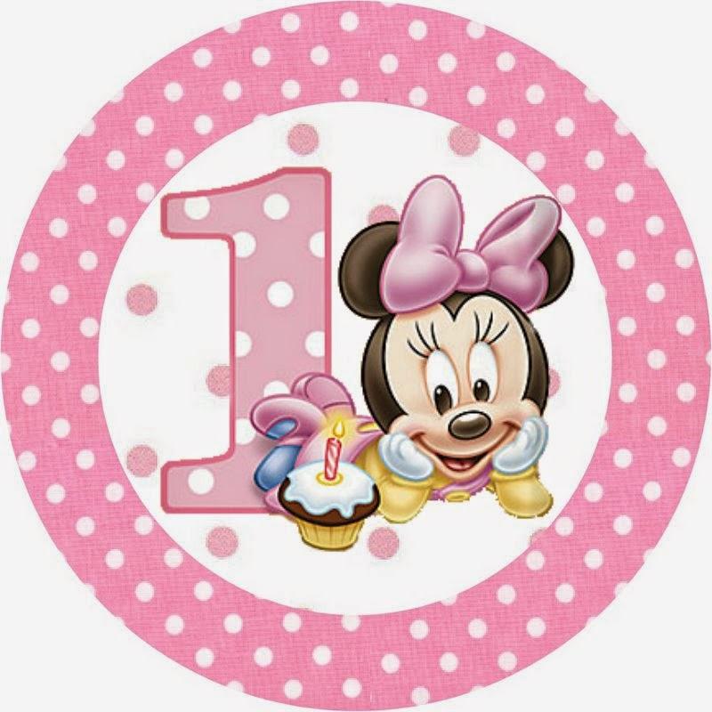 Minnie Primer Año con Lunares: Etiquetas para Candy Bar para ...