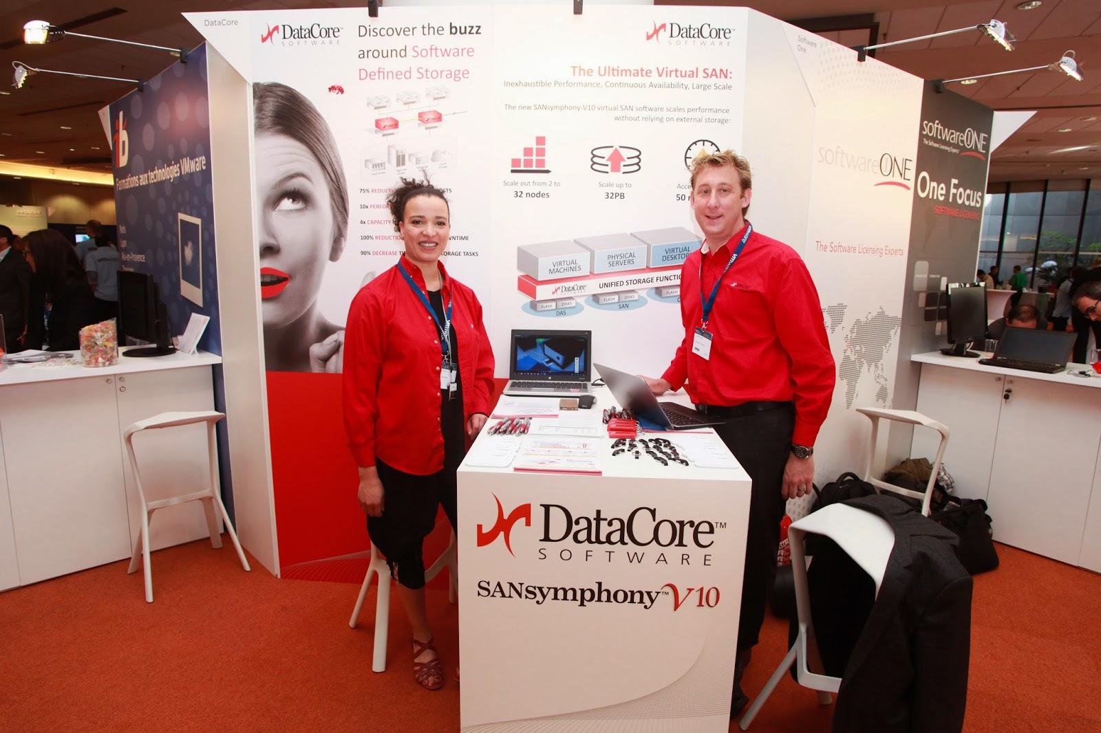 DataCore a présenté les avantages de Virtual SAN et SANsymphony V au VMware VForum en Paris