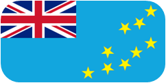 Rounded flag of Tuvalu
