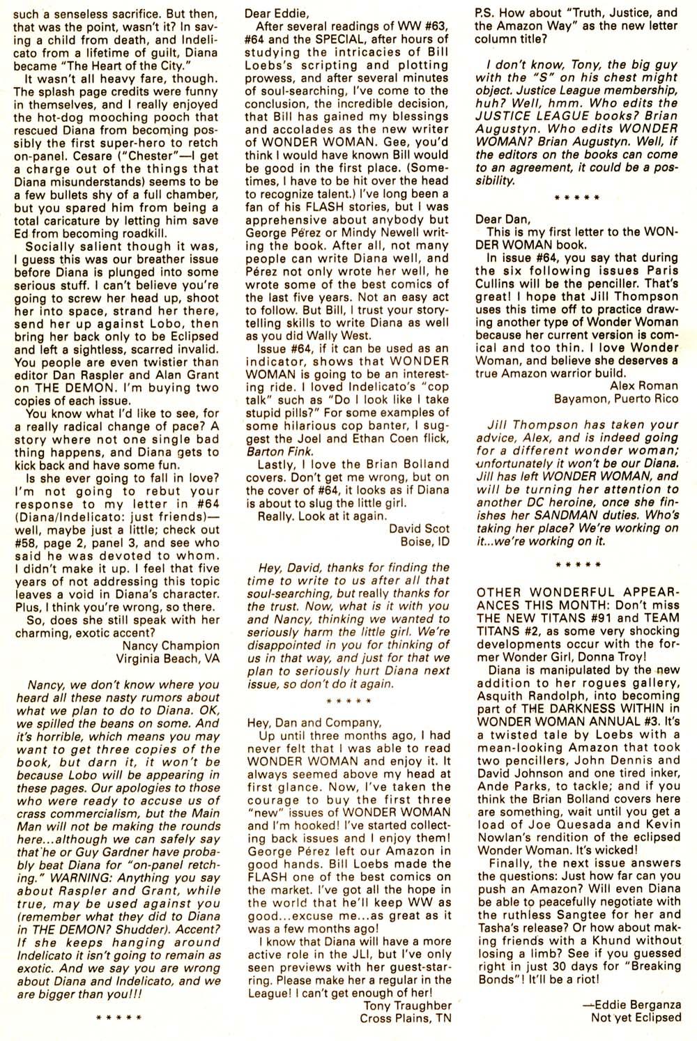 Read online Wonder Woman (1987) comic -  Issue #67 - 25