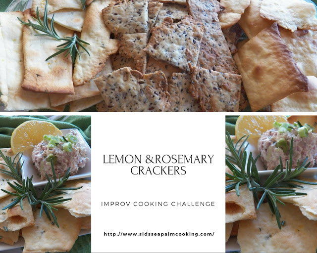 Lemon and Rosemary Crackers