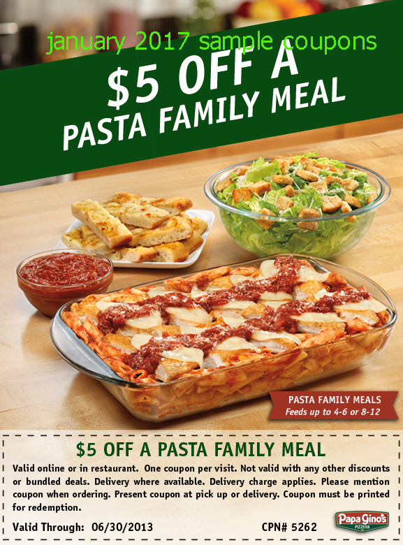 For those Sunday afternoon lunches with the family, go to the Papa Ginos restaurant and enjoy the benefits of papa gino's best coupons and eat a whole meal of 2 large cheese pizzas with chicken sides and soda to keep you all satisfied at 25$ only.5/5(1).