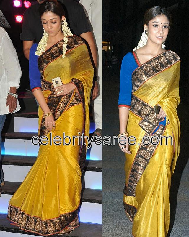 ce0e318bb3c732 Nayan Tara Yellow Raw Silk Sari - Saree Blouse Patterns