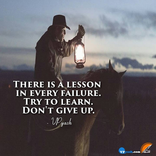 Lesson of every Failure, Learn More