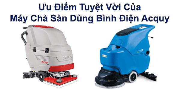 ưu điểm tuyệt vời của máy chà sàn dùng bình điện acquy