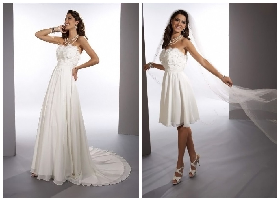 WhiteAzalea Sheath Dresses: Convertible 2 in 1 Wedding