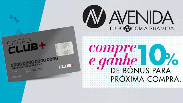 Cartão Club + Avenida Cacoal, entre no Club de vantagens das Lojas Avenida e Giovanna Calçados