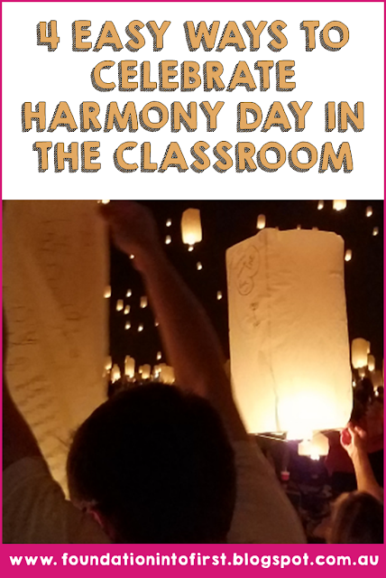 4 Ways to celebrate Harmony Day in the classroom. #teacherblog #teacher #harmonyday #australia
