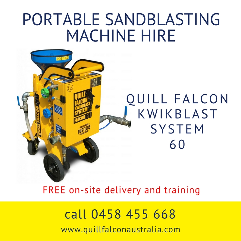Quill Falcon Kwikblast Dustless Blasting Machine Falcon 60