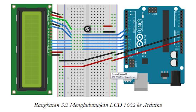 Menghubungkan LCD 1602 ke Arduino